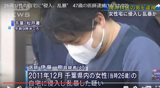 伊藤樹(たつる)医師 精神科医 準強制わいせつ罪にて懲役2年の実刑が ...